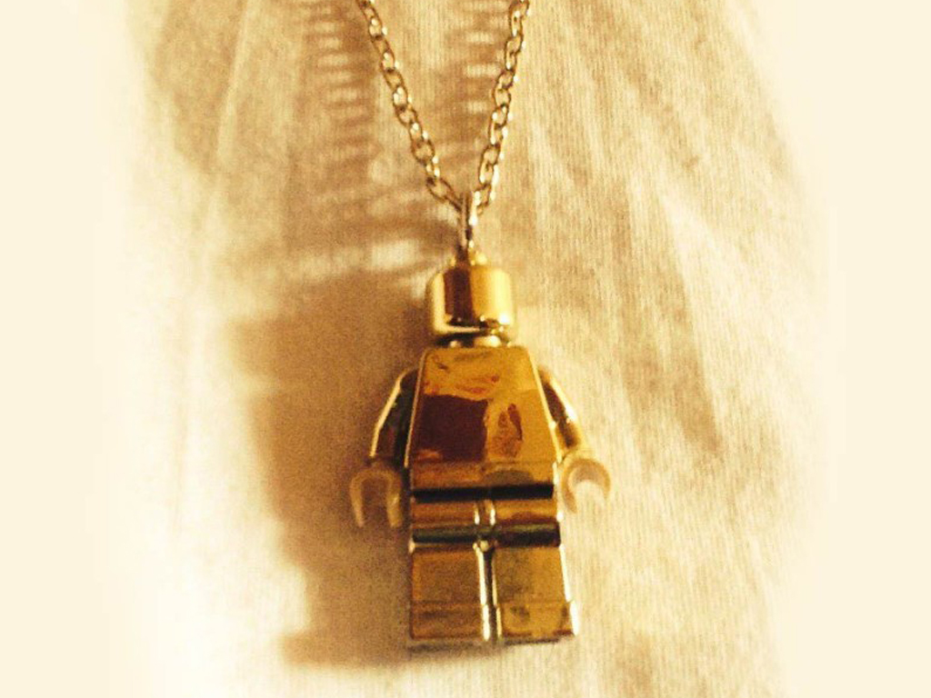 Gold Lego Minifigure Necklace