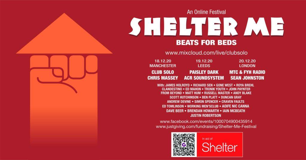 Shelter Me Live Stream Fundraiser at Sheaf Street